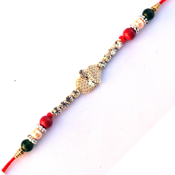 -The Beautiful Metal Kundan Rakhi ,Send Rakhi online,send rakhi,online send rakhi,rakhi to india,send rakhi to india,rakhi shop india