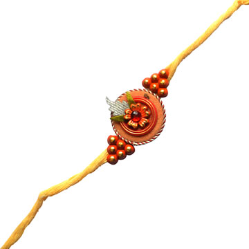 -YALLOW FLORAL ZARDOZI RAKHI,Send Rakhi online,send rakhi,online send rakhi,rakhi to india,send rakhi to india,rakhi shop india