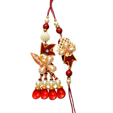 -Traditional Pearl Pair Rakhi,Send Rakhi online,send rakhi,online send rakhi,rakhi to india,send rakhi to india,rakhi shop india