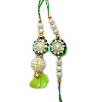 Bright Diamond Pair Rakhi