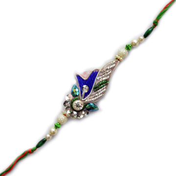 -Peacock Zardosi Rakhi,Send Rakhi online,send rakhi,online send rakhi,rakhi to india,send rakhi to india,rakhi shop india